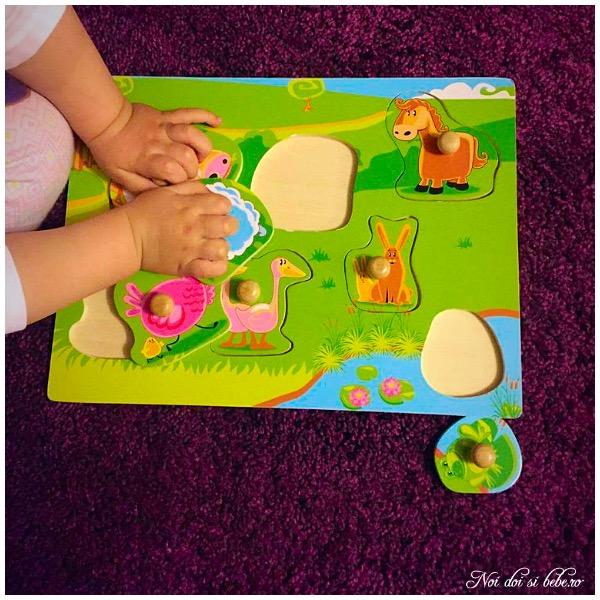 puzzle incastrat bebelusi