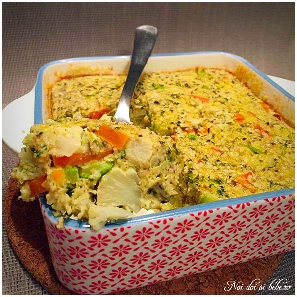 Clafoutis de legume cu lapte vegetal
