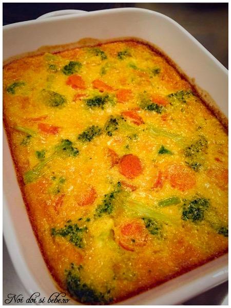Clafoutis cu legume si mascarpone