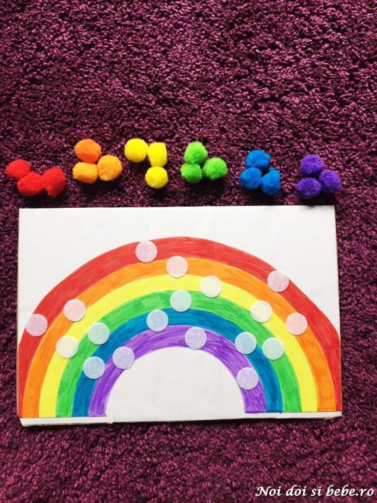 curcubeu pom-pom-uri Montessori