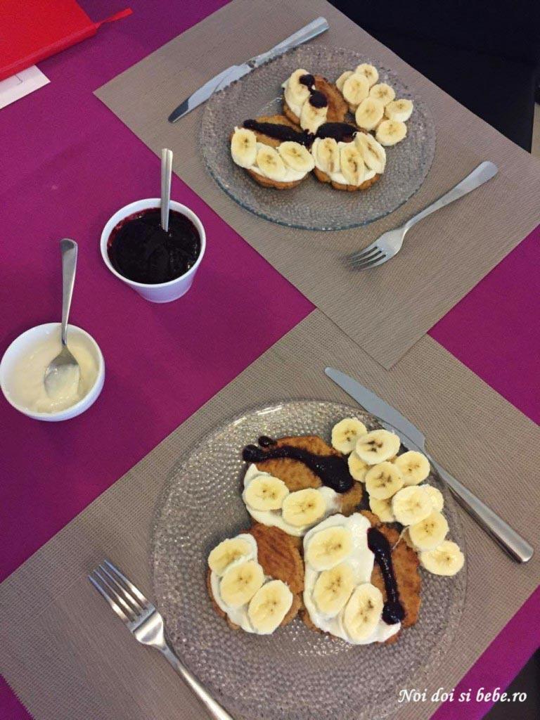 pancakes la cuptor cu cocos si migdale