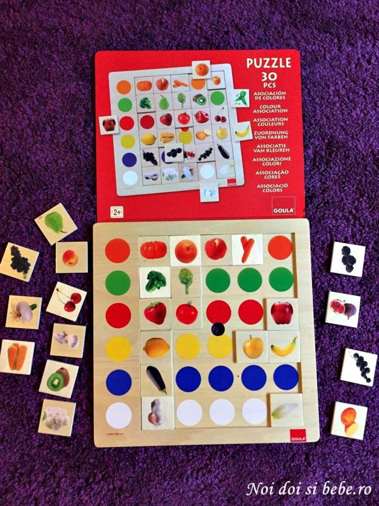 puzzle asociere culori