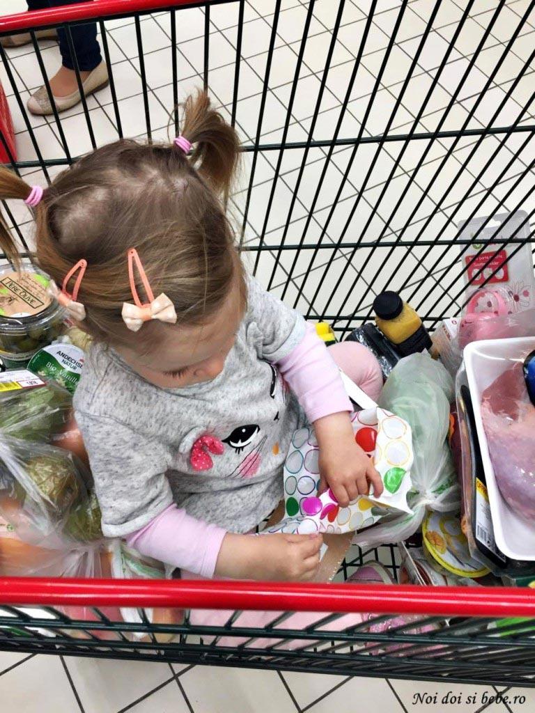 la cumparaturi cu copilul